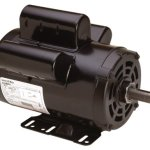 AO-Smith-AC-motors-B813-5-HP-3450-RPM-230-Volts-22-Amps-56HZ-Frame-1-Service-Factor-CWLE-Rotation-78-Inch-by-231-Inch-Flat-Shaft-Compressor-Motor-0