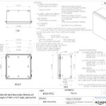 BUD-Industries-NBB-15245-Style-B-Plastic-Outdoor-NEMA-Box-with-Solid-Door-13-Length-x-13-Width-x-7-132-Height-Light-Gray-Finish-0-0