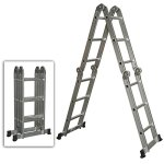 Best-Choice-Products-SKY528-Scaffold-Extendable-Heavy-Duty-Multi-Purpose-Folding-Step-Ladder-Aluminum-0