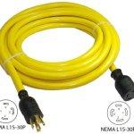 Conntek-20621-025-25-Feet-3Phase-30A-250V-L15-30-SJTW-104-Locking-Extension-Cord-0-0