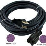 Conntek-NEMA-5-20-20-Amp-T-Blade-SJOOW-123-Anti-Weather-0-0