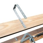 Louisville-Ladder-Everest-Aluminum-Attic-Ladder-350-Pound-Capacity-255-Inch-by-63-Inch-Opening-Ceiling-Heights-10-Foot-To-12-Foot-0-0