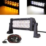 MICTUNING-Amber-White-LED-Light-Bar-with-Customized-Wiring-Harness-0