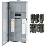 Square-D-by-Schneider-Electric-HOM3060M200PRBVP-Homeline-200-Amp-30-Space-60-Circuit-Outdoor-Main-Breaker-Load-Center-Value-Pack-Plug-on-Neutral-Ready-0