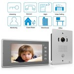 Upgrade-Version1byone-7-Color-LCD-Touch-Screen-Wired-Video-Doorbell-2-Monitors-1-Camera-With-Video-Recording-and-PhotoTaking-Function-120-Wide-Angle-VP-0689-0-0