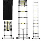 Useful-UH-TL189-125ft-Aluminum-Telescoping-Extension-Ladder-with-Finger-Save-Stoppers-Safety-Stabilizing-Cross-Piece-Free-Carry-Bag-0