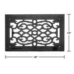 Vent-Cover-Grille-Victorian-Cast-Aluminum-No-Maintenance-Rustproof-Baked-Powder-Coat-Scroll-Design-Renovators-Supply-Logo-0-1