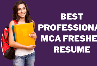 MCA Fresher Resume