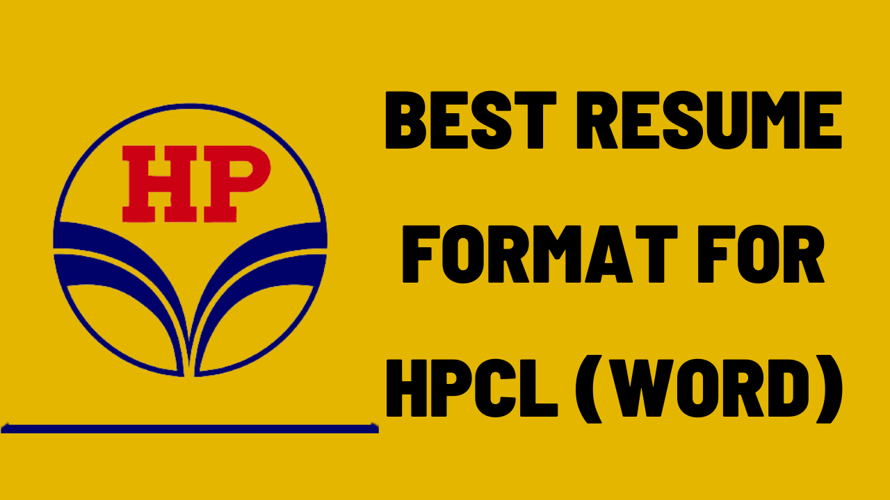 Resume Format For HPCL