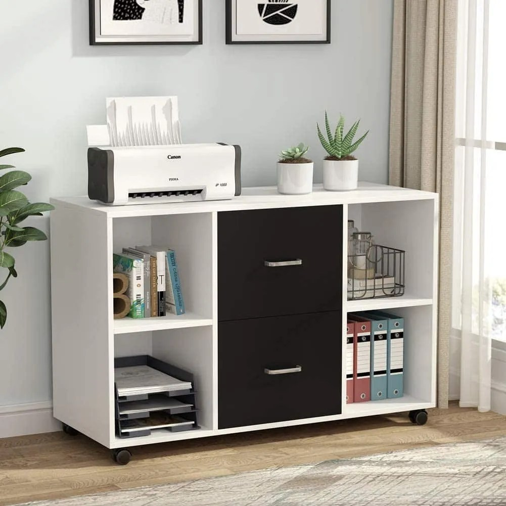 2 Drawer Wood File Cabinet large mobile cabinet