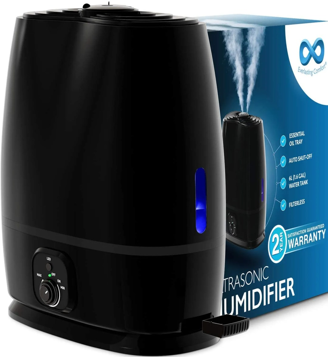 Comfort Humidifiers for home office with essential oil tray to make your workspace even more relaxing and enjoyable.