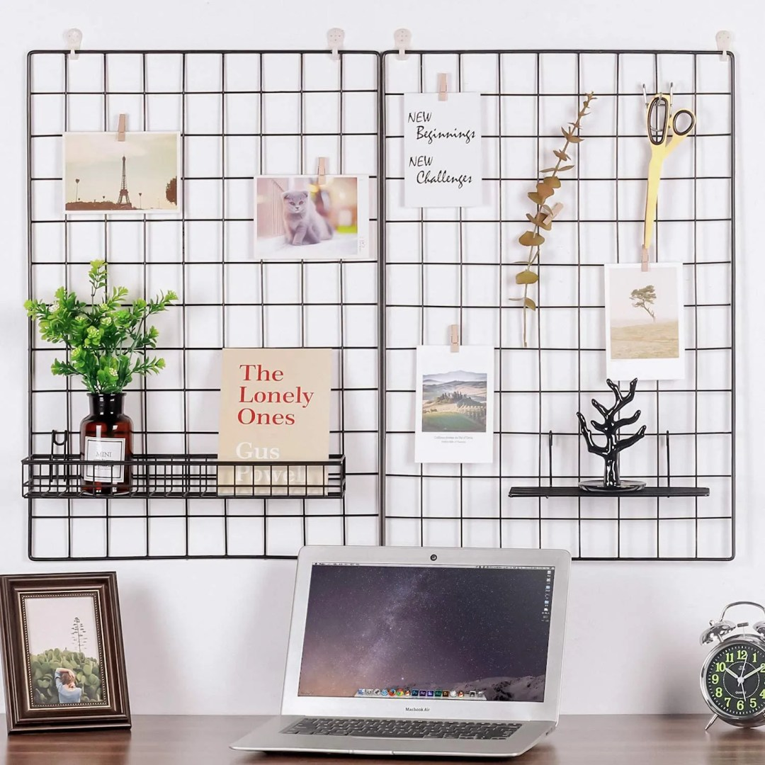 Kaforise Wire Wall Grid Panel - home office design ideas
