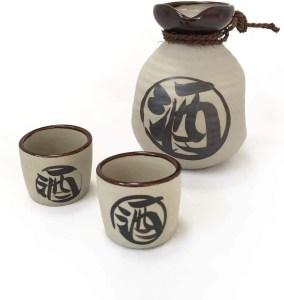 MINO-YAKI Japanese Traditional Ceramic Sake Set
