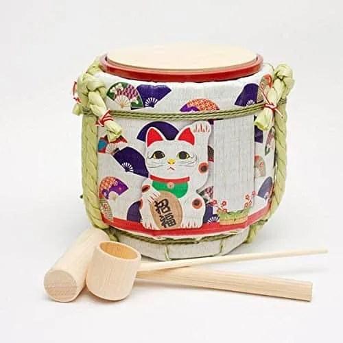 Mini Kagami Biraki Sake-Barrel Set