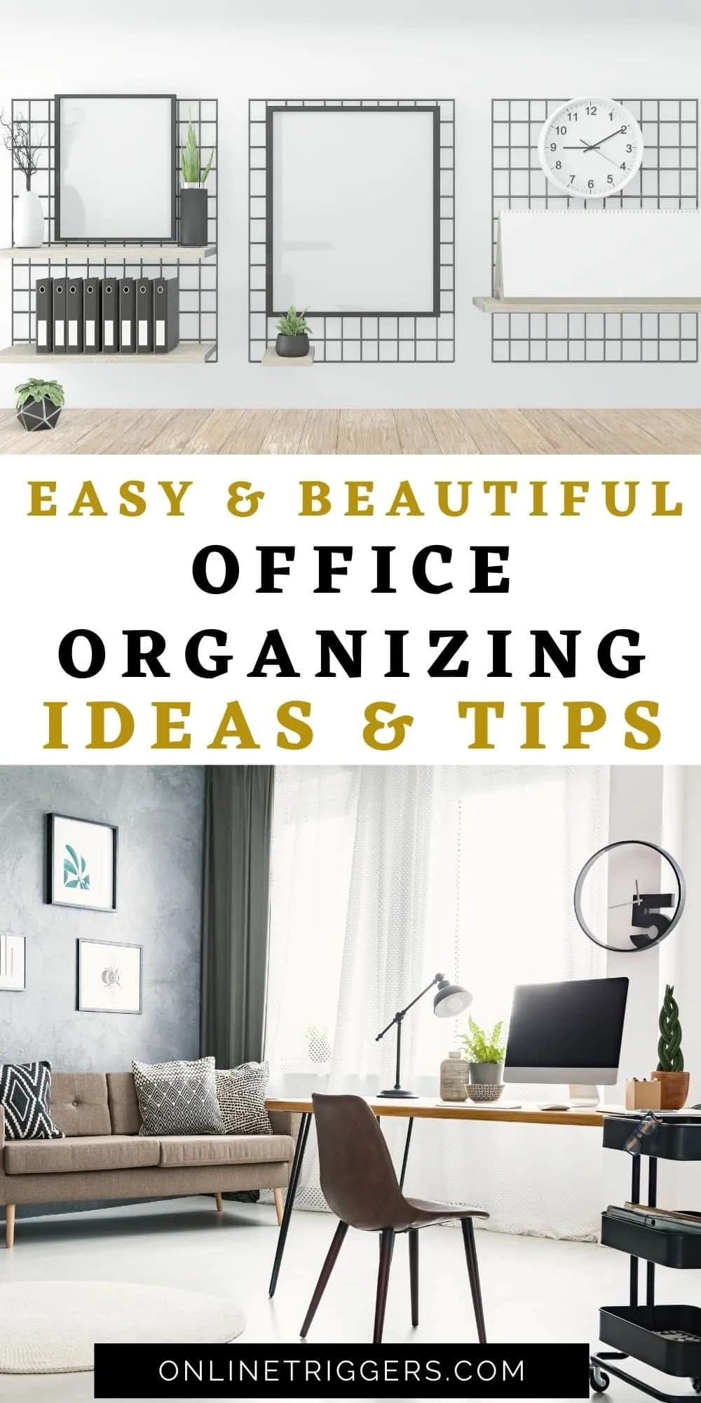 easy office organizing ideas and tips