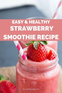 Easy & Healthy Strawberry Smoothie Recipe For Vegans
