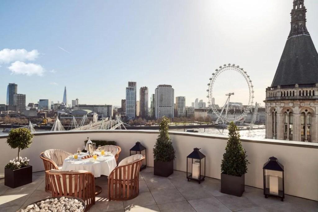 Corinthia London near Trafalgar Square, central London with balcony