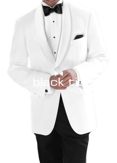 1-button white dinner jacket