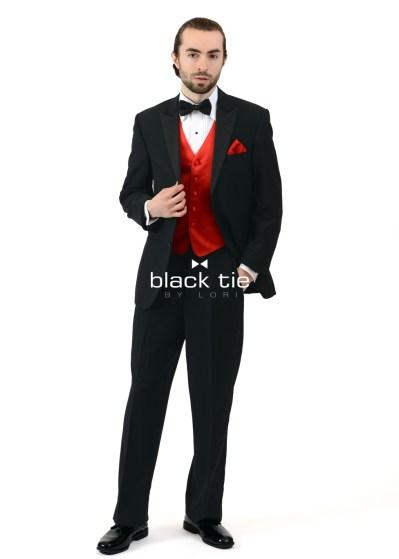 """""""Beau"""" Black Modern Fit Tuxedo"""