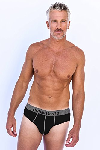 UnderGents Men's Brief Underwear with CloudSoft Cooling Air Modal Fabric (Comfort Underneath: Black Size 2XL)