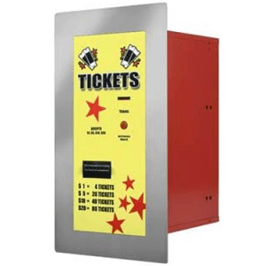 AC125 Ticket Dispenser-Rear Load-In Wall Mount