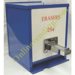 Coin Operated Manual Pencil Eraser Vending Dispenser - Online Vending