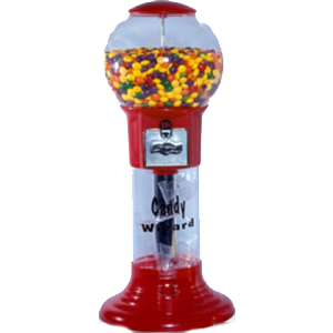 Lil 27 Inch Mini Wizard Spiral Bulk Gumball Vending Machine
