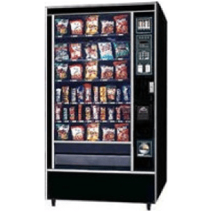 Rowe 4900 SR GF Snack Glass Front Vending Machine Merchandiser