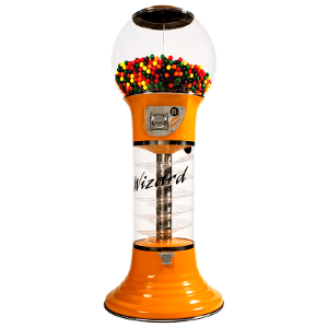 "Giant 5' 6"" Wizard Spiral Bulk Gumball Vending Machine"
