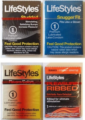 LifeStyles Mixed Assortment Single Latex Condoms