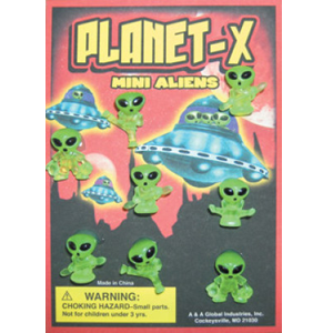 Planet-X Mini Aliens Figurines - 1.1 Inch Capsules