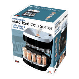 AccuWrapper Motorized Coin Bank-Sorts, Counts, Wraps