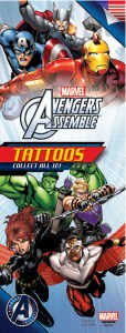Marvel Avengers Assemble 3 Tattoos- Vending Refill