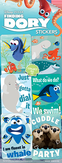 Finding DORY Stickers - Vending Sticker Refill