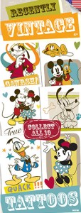 Vintage Mickey Mouse Tattoos - Vending Tattoo Refill
