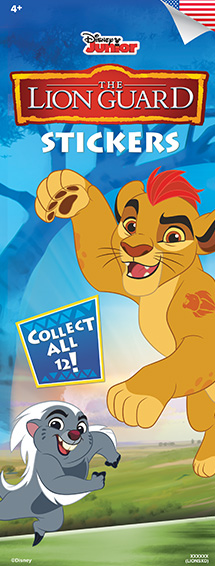 LIONS - Disney Lion Guard Stickers-Vending Refill