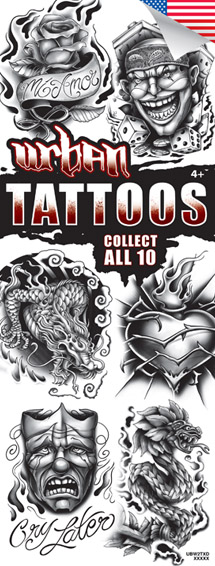 Urban Black & White #2 Tattoos - Vending Refill