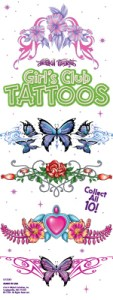 Girl's Club Temporary Tattoos, by Lethal Threat-Refill