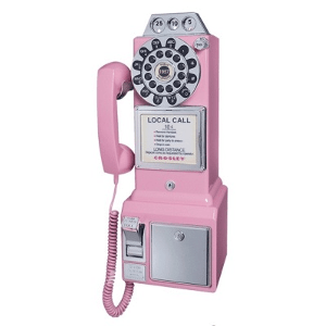 Crosley 1950's Classic Pay Phone-Model CR56-PI-Pink