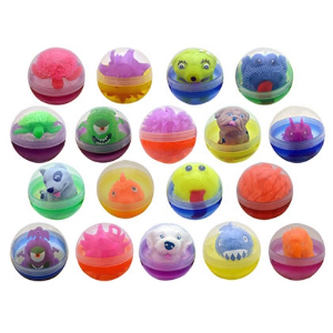 Puffer Kit 96 Pieces-4 Inch Toy Filled Round Capsules