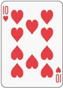 poker card 10 heart
