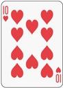 poker card 10 heart
