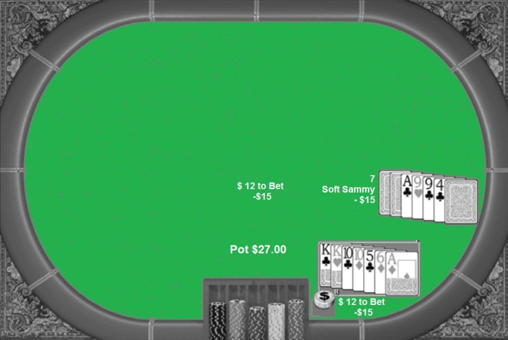 It's no fun playing poker with two pairs against an Ace and another pair