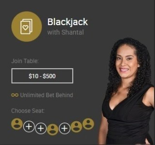 Blackjack with Shantal