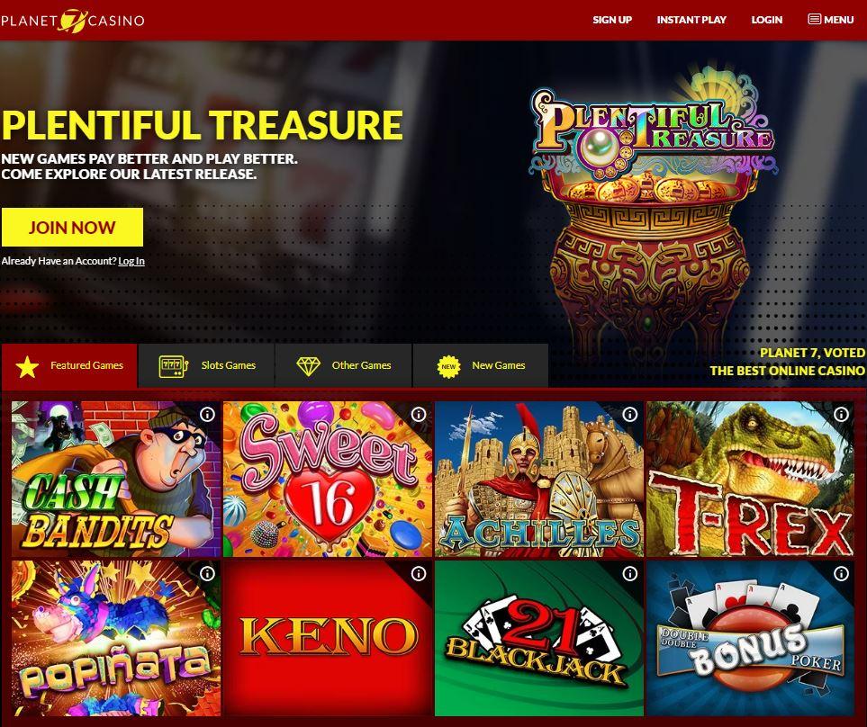Planet 7 Casino Screenshot