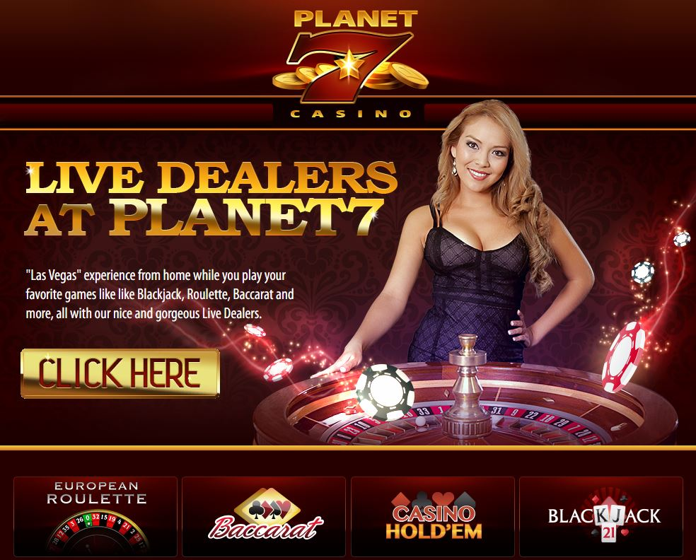 Planet 7 Live Dealers Casino Screenshot