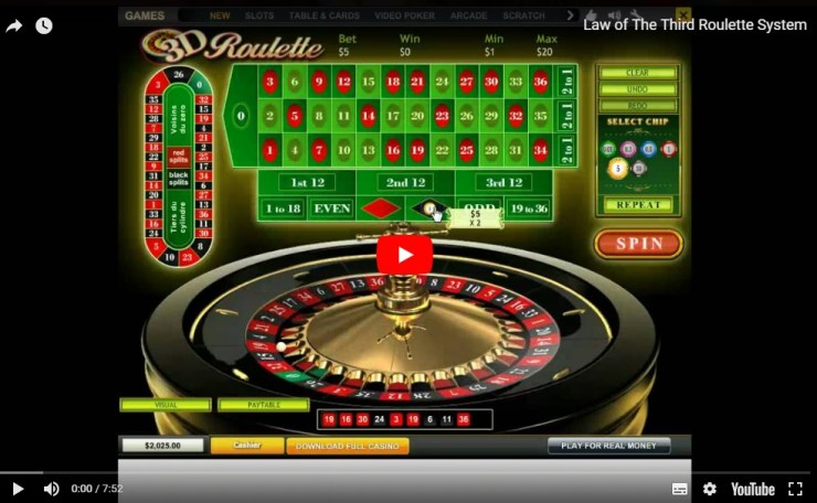 The Law of The Third Roulette System