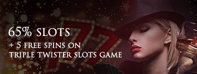 Lucky Red Casino Saturday Free spins and a 65% slot bonus