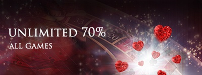 Lucky Red Casino Sunday 70% unlimited use all game bonus