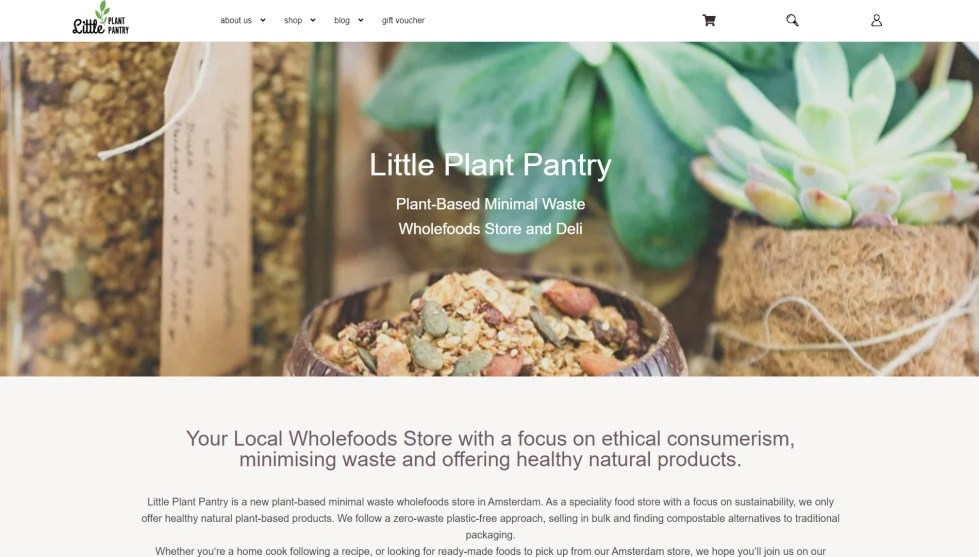 LittlePlantPantry Wholesale no packaging food store